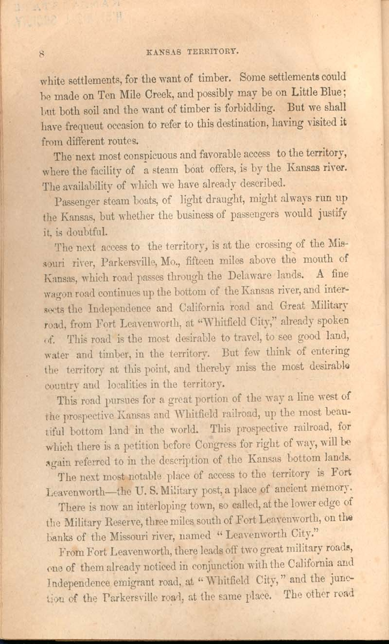 History of Kansas and emigrant's guide - p. 8