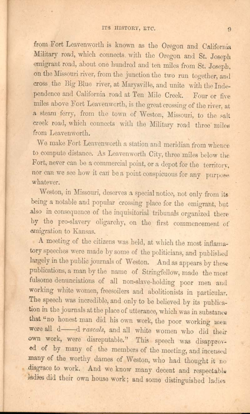 History of Kansas and emigrant's guide - p. 9