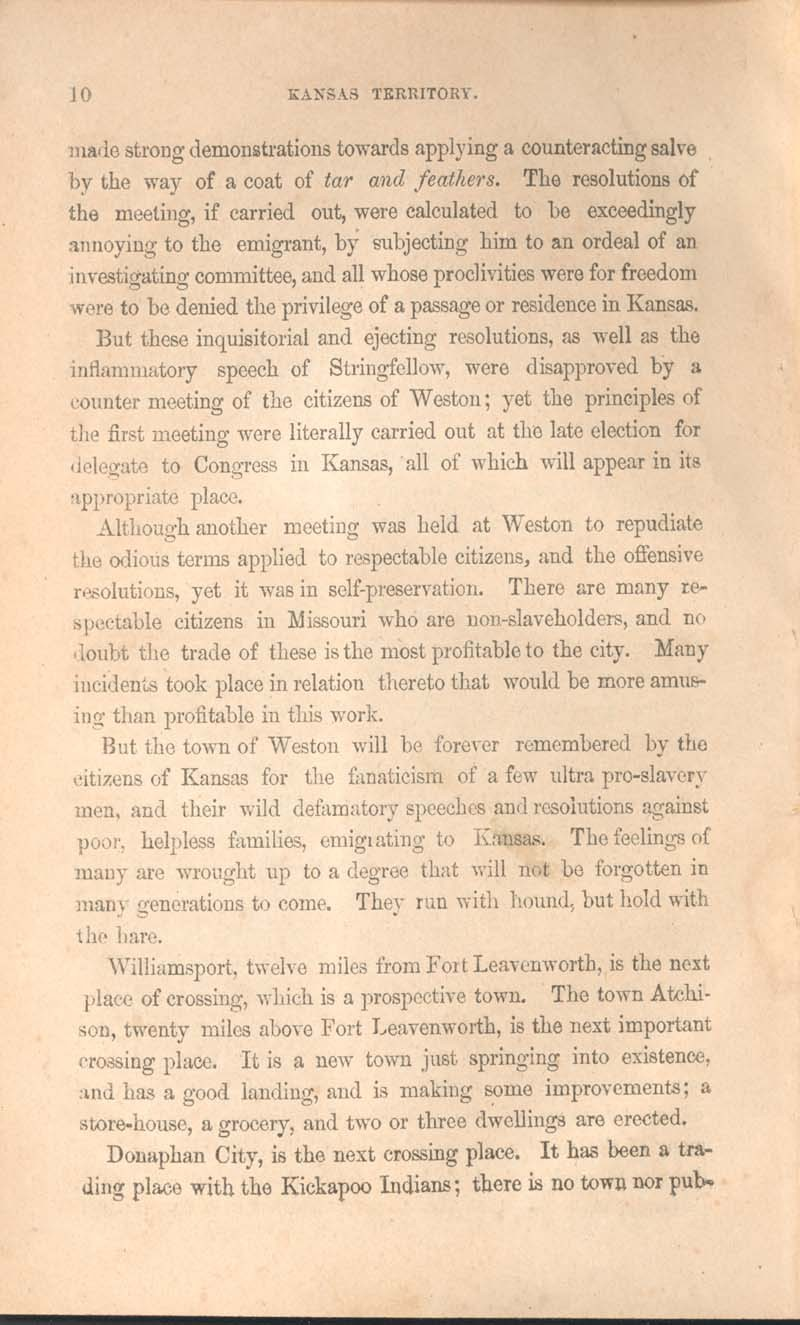 History of Kansas and emigrant's guide - p. 10