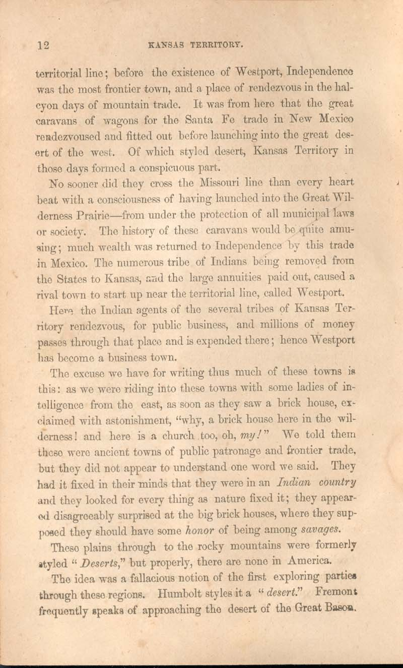 History of Kansas and emigrant's guide - p. 12