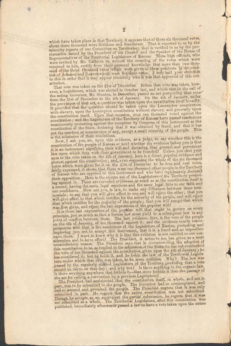 John Jordan Crittenden, speech on the Admission of the State of Kansas - p. 2