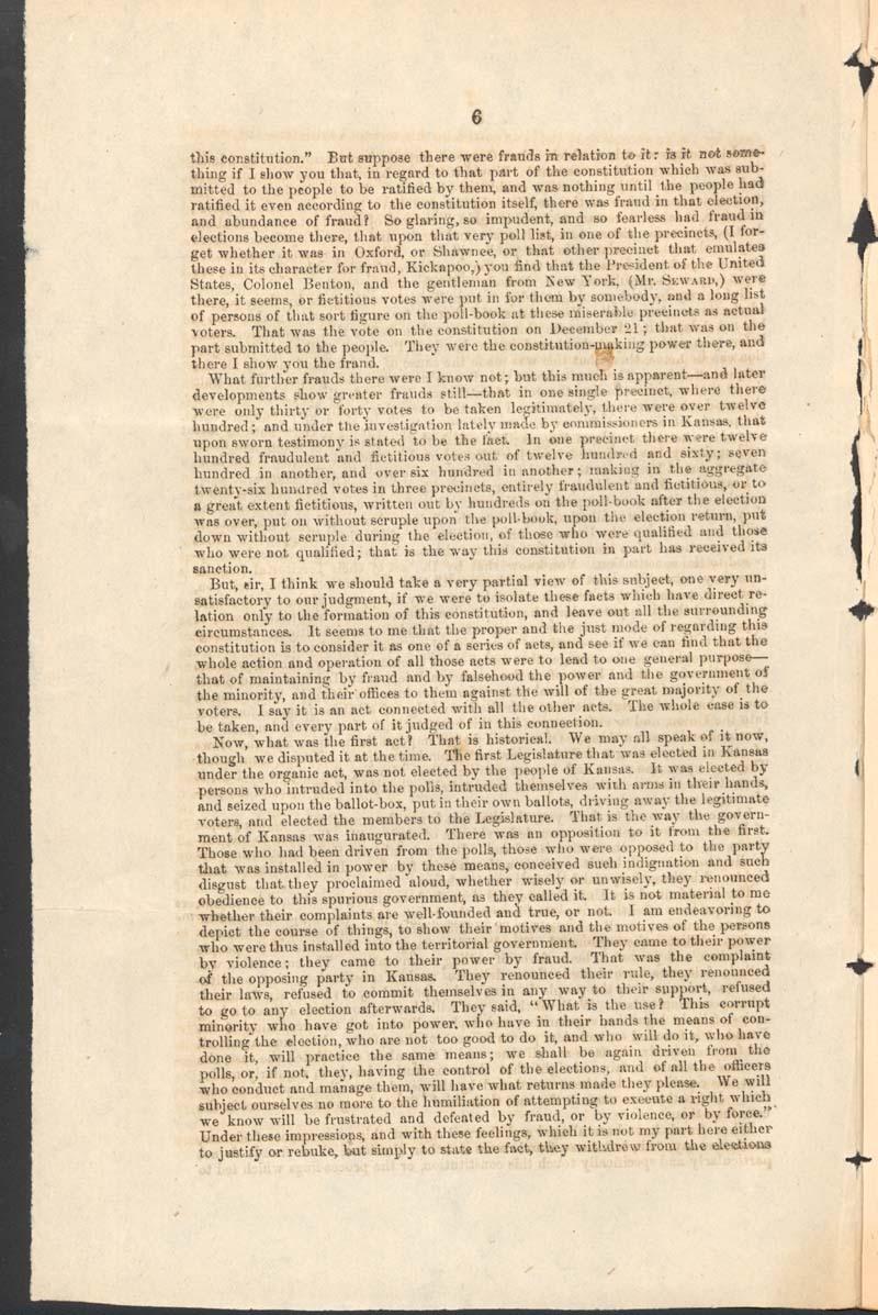John Jordan Crittenden, speech on the Admission of the State of Kansas - p. 6