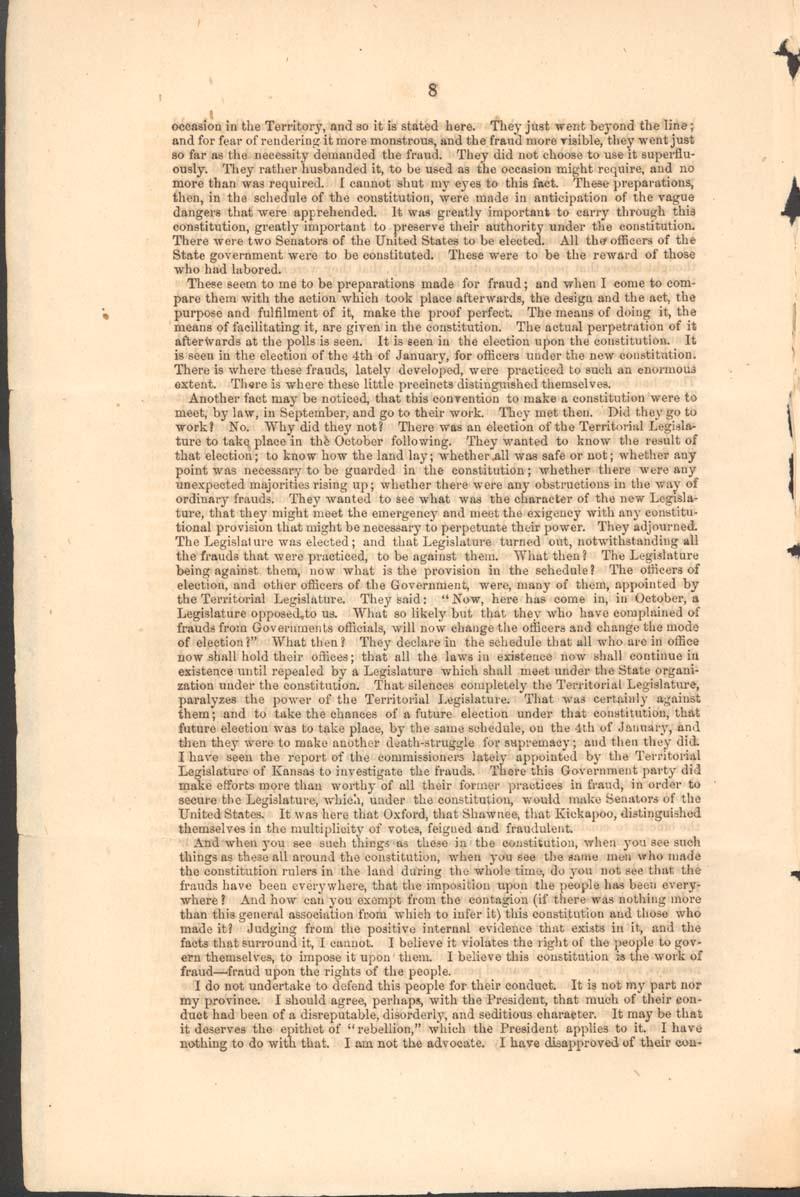John Jordan Crittenden, speech on the Admission of the State of Kansas - p. 8
