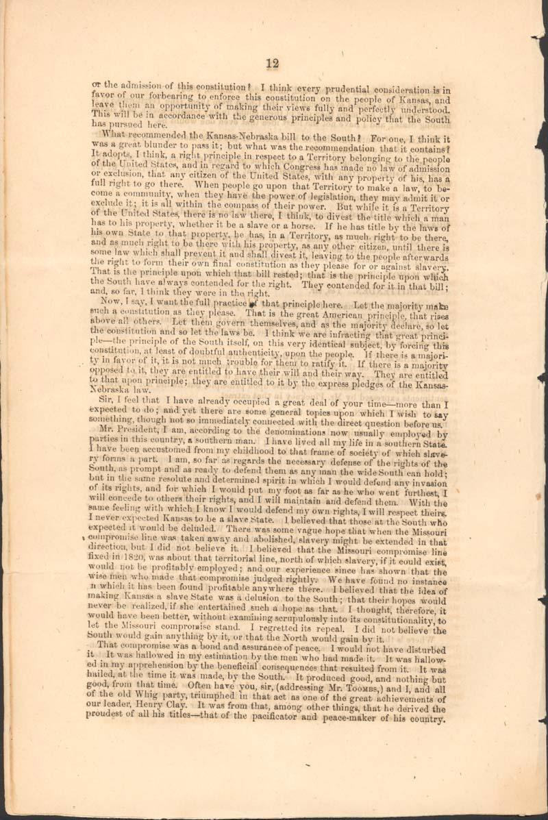 John Jordan Crittenden, speech on the Admission of the State of Kansas - p. 12