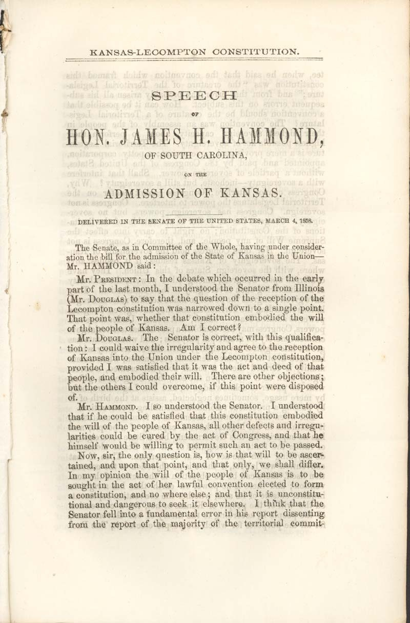 James Henry Hammond of South Carolina, speech - p. 3