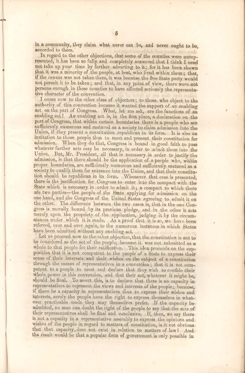 Robert Mercer Taliaferro Hunter, of Virginia, speech - p. 5