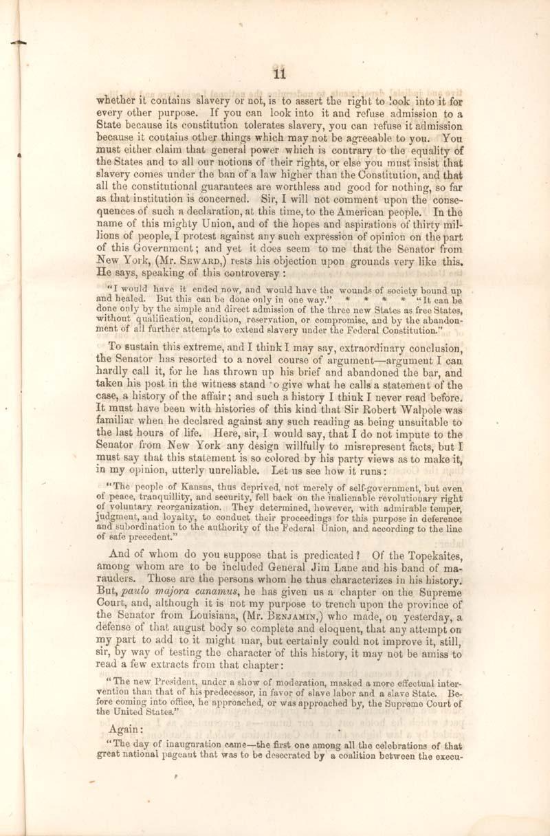 Robert Mercer Taliaferro Hunter, of Virginia, speech - p. 11