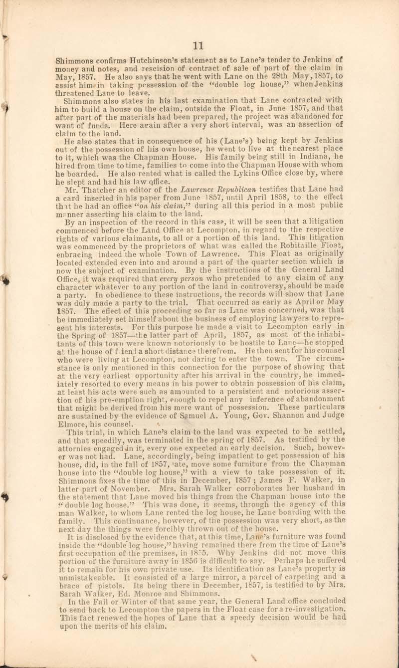 James Henry Lane vs. heirs of Gauis Jenkins - p. 11