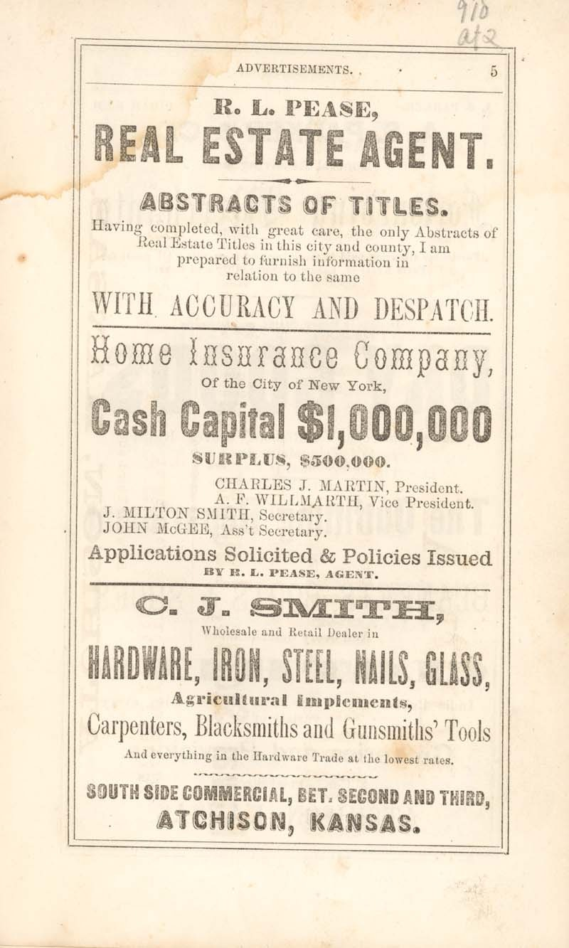 Atchison city directory and business mirror for 1859-60 - 5