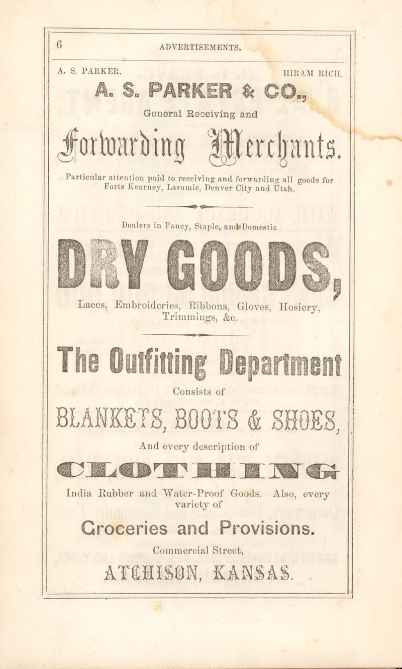 Atchison city directory and business mirror for 1859-60 - 6