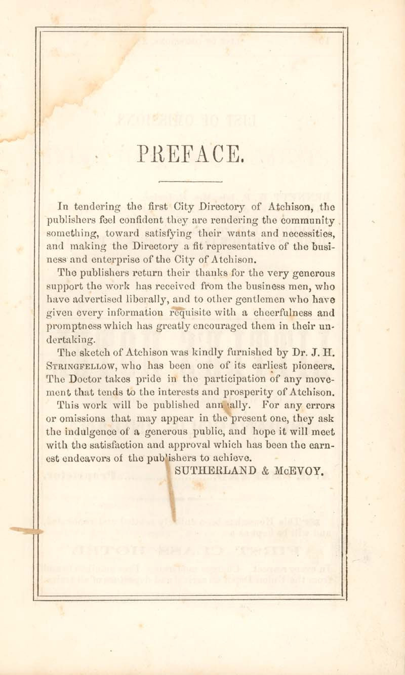 Atchison city directory and business mirror for 1859-60 - 9