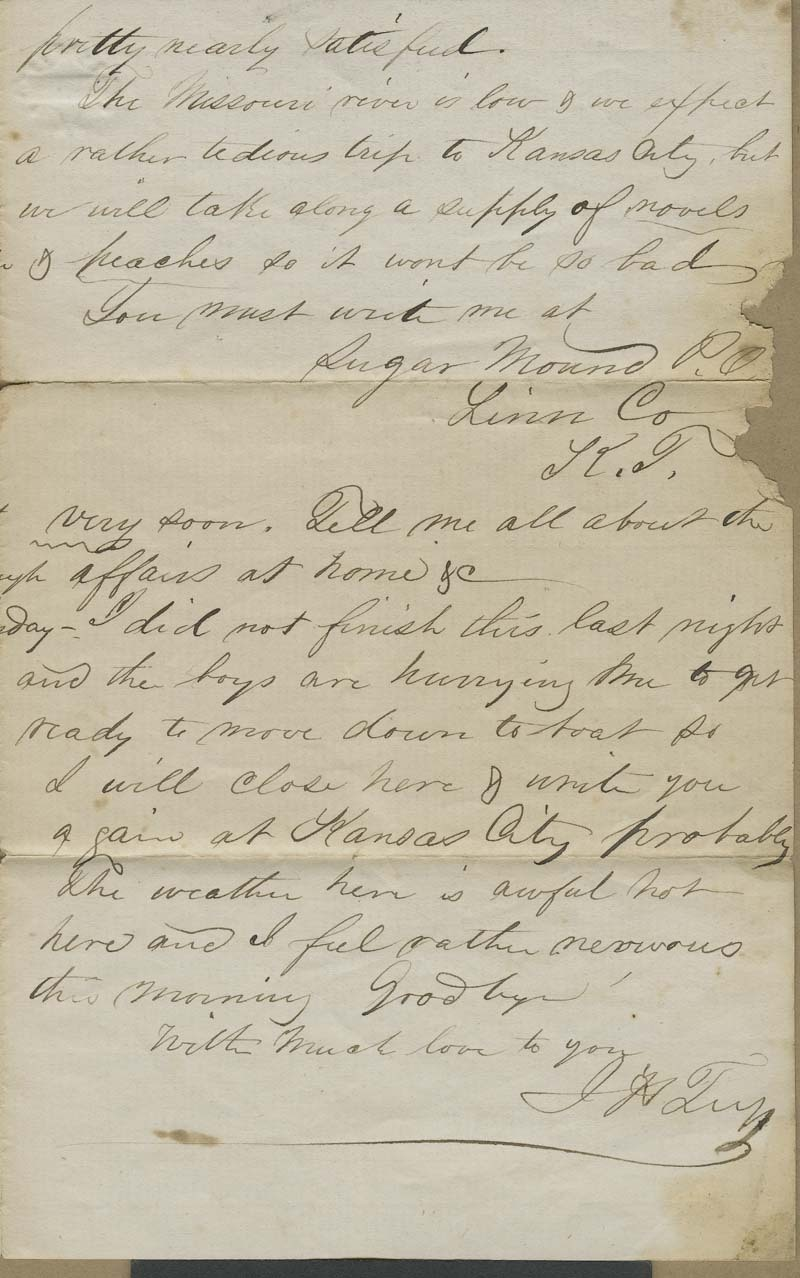 Joseph Harrington Trego to an unidentified recipient [probably his wife, Alice Trego] - p. 3