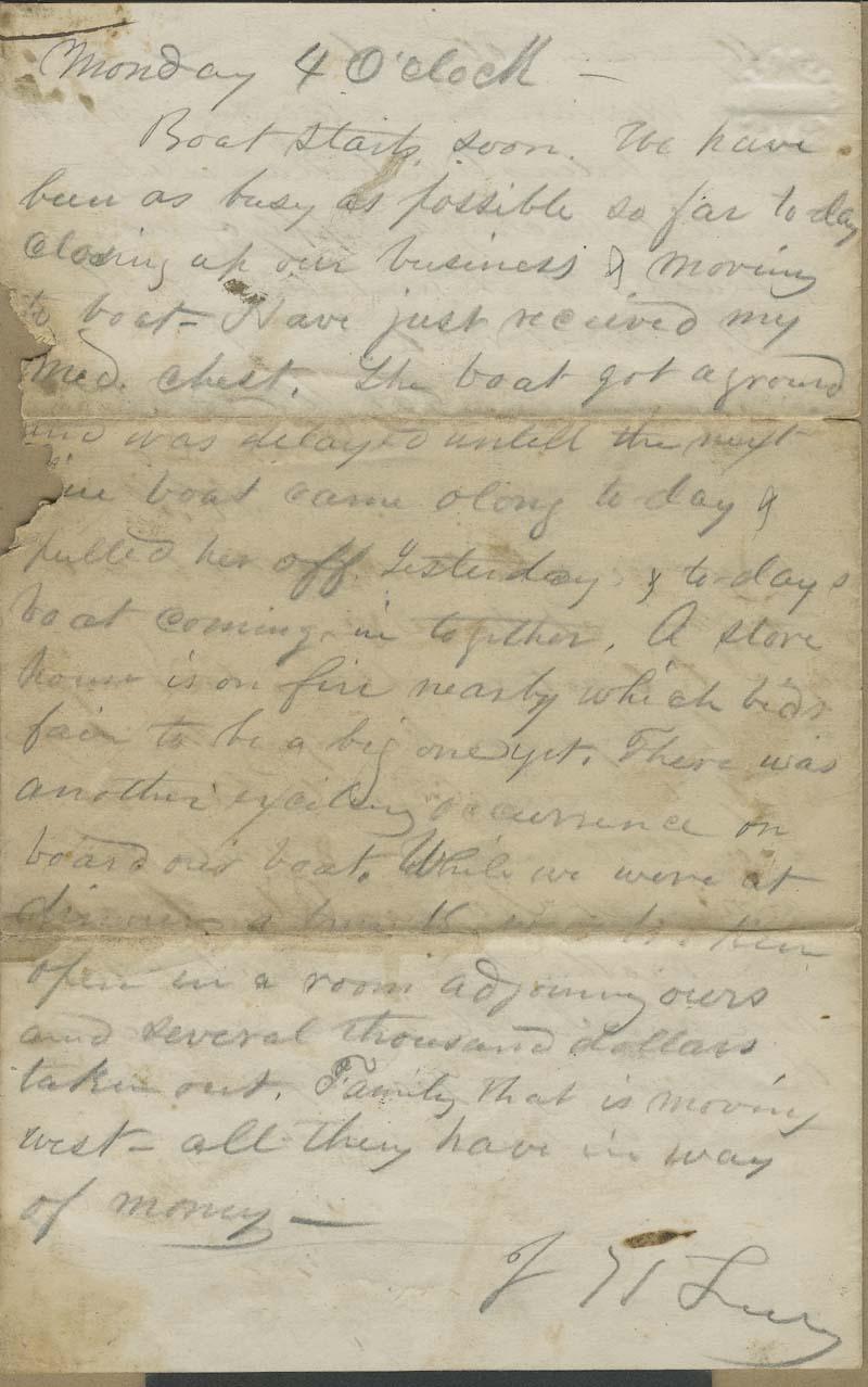 Joseph Harrington Trego to an unidentified recipient [probably his wife, Alice Trego] - p. 4