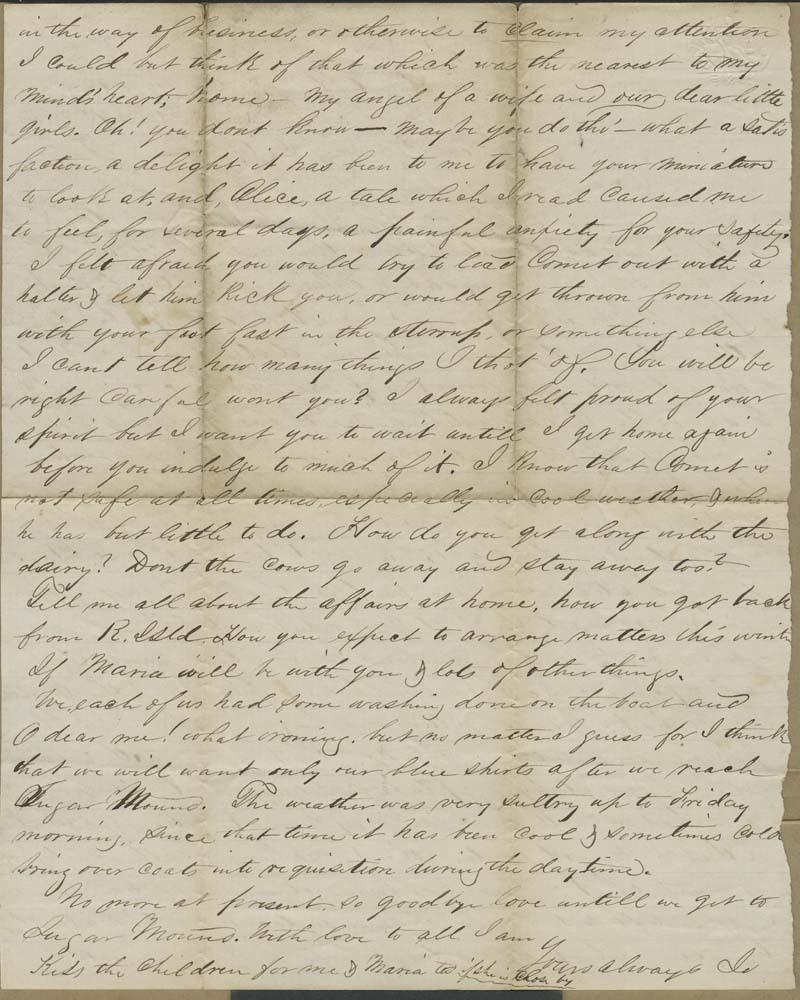 Joseph Harrington Trego to Alice Trego - p. 2