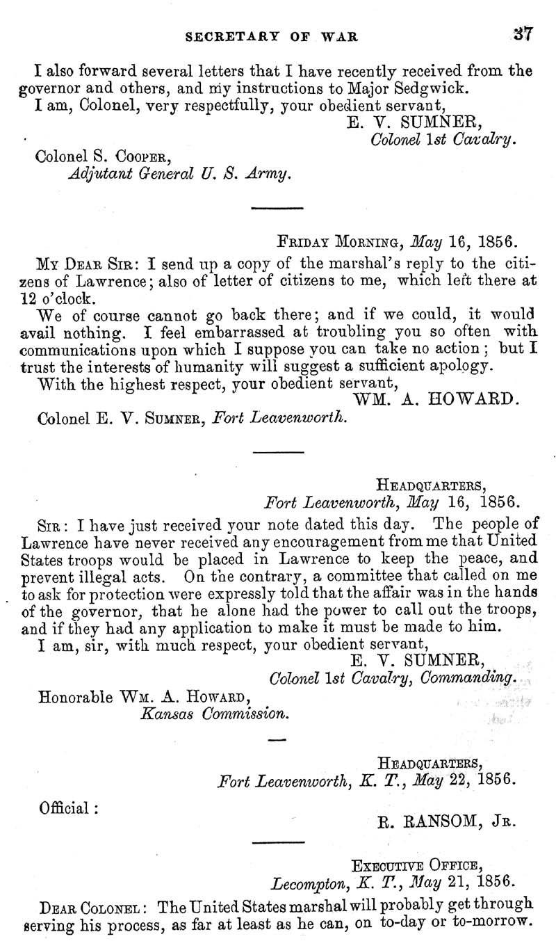 Jefferson Davis, Secretary of War; report - p. 11