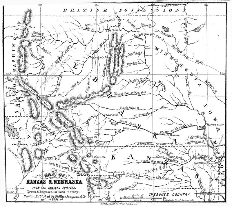 Kanzas and Nebraska: the history, geographical, and physical characteristics, and political position of those territories; an account of the emigrant aid companies and directions to emigrants - p. 1
