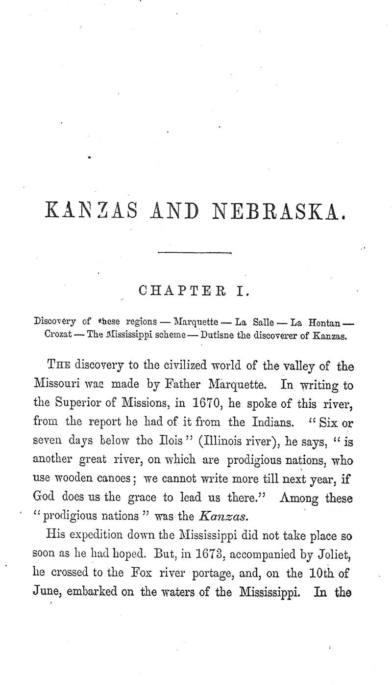 Kanzas and Nebraska: the history, geographical, and physical characteristics, and political position of those territories; an account of the emigrant aid companies and directions to emigrants - p. 9