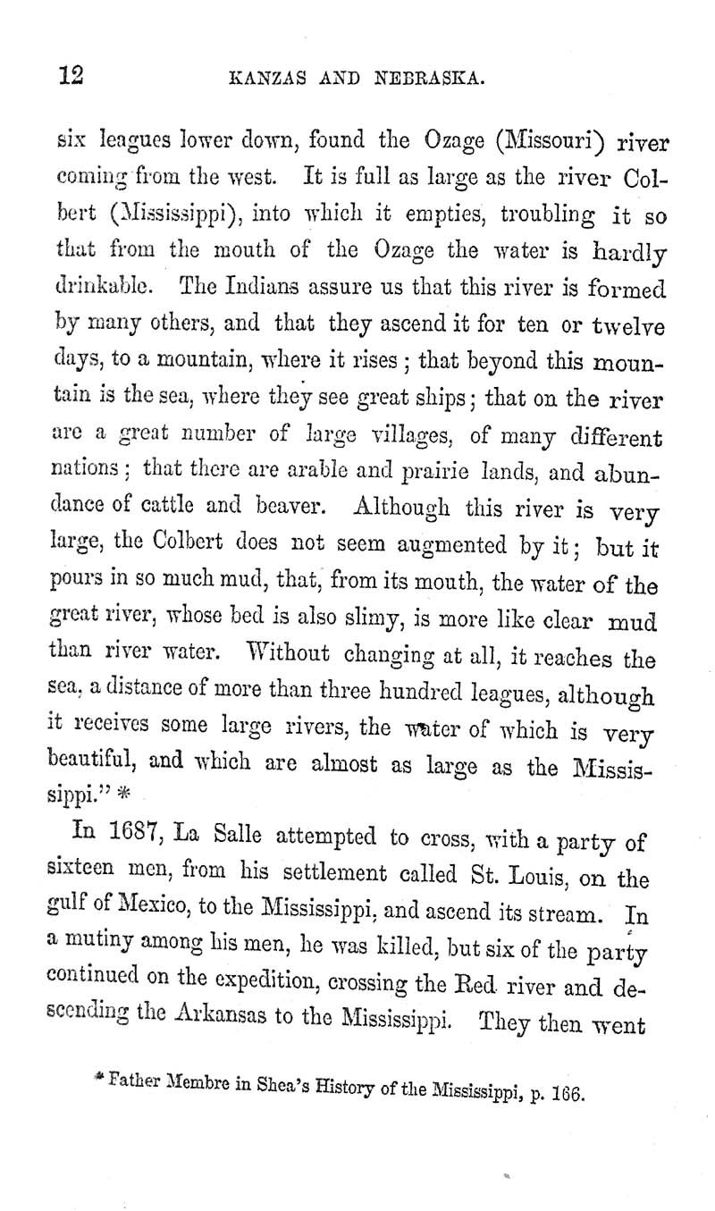 Kanzas and Nebraska: the history, geographical, and physical characteristics, and political position of those territories; an account of the emigrant aid companies and directions to emigrants - p. 12