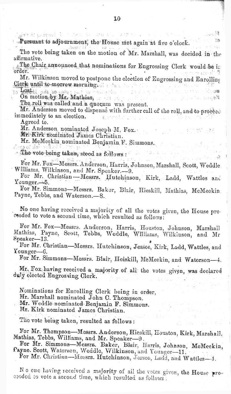 Journal of the House of Representatives of the Territory of Kansas - p. 9
