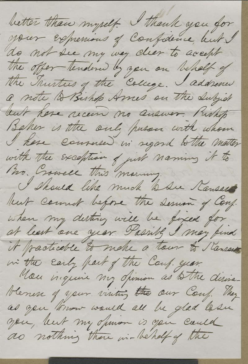 William R. Clark to Isaac Goodnow - p. 3