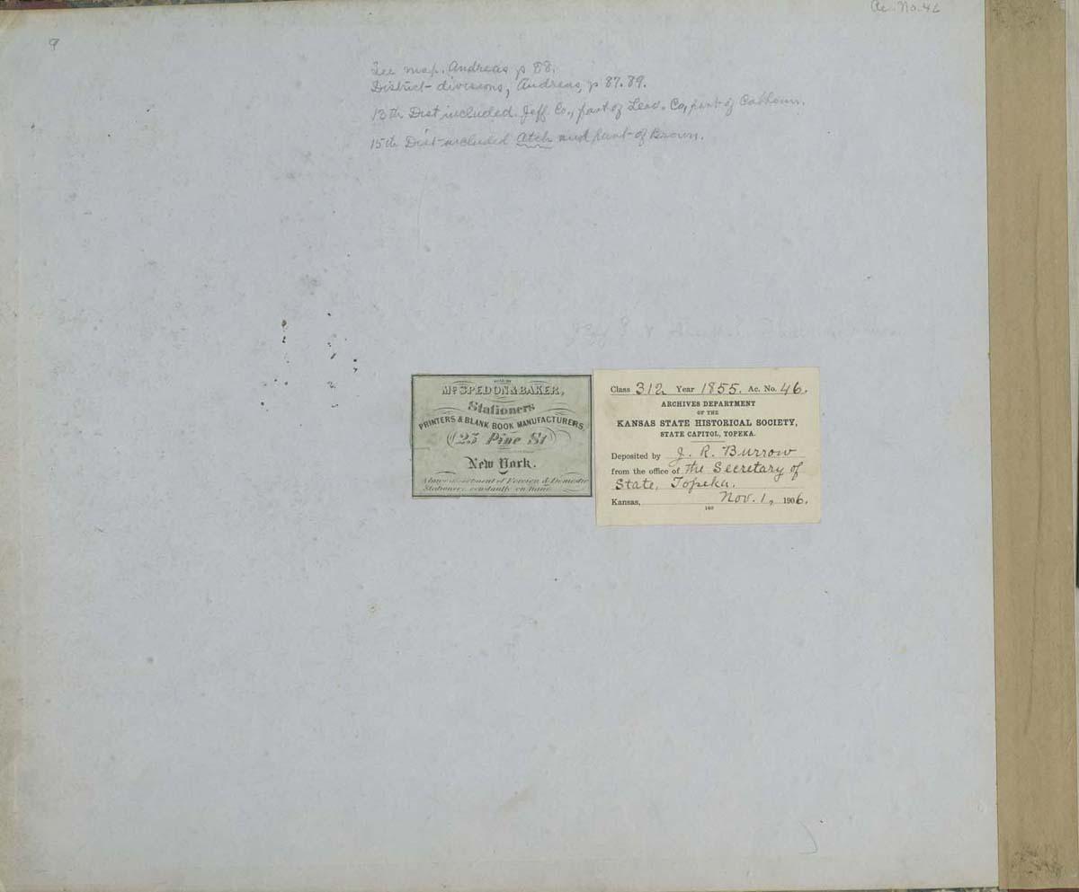 Territorial Census, 1855, District 15 - p. 1