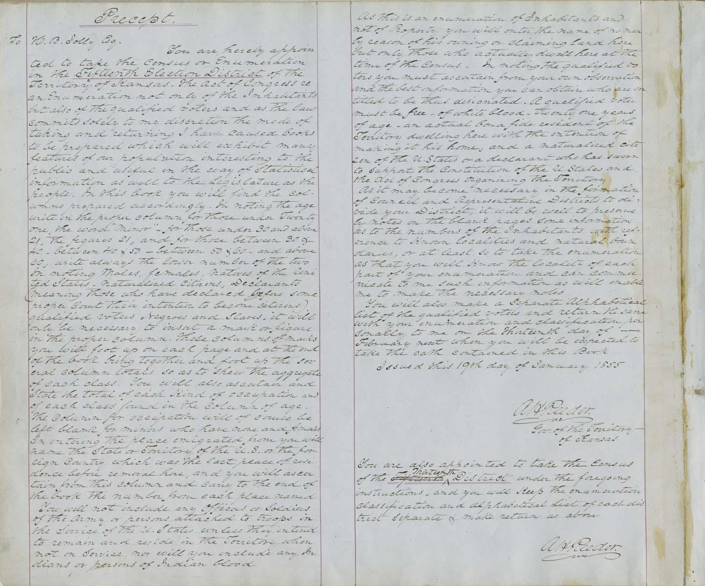 Territorial Census, 1855, District 15 - p. 2
