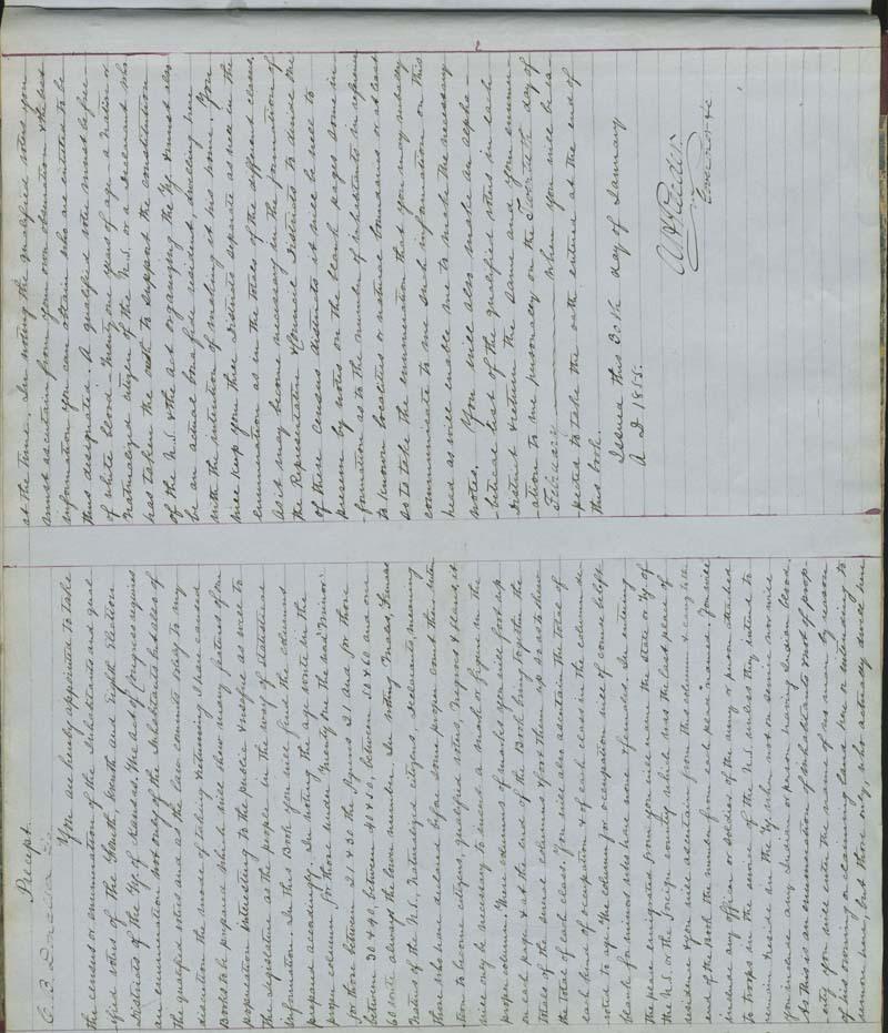 Territorial Census, 1855, District 8 - p. 1