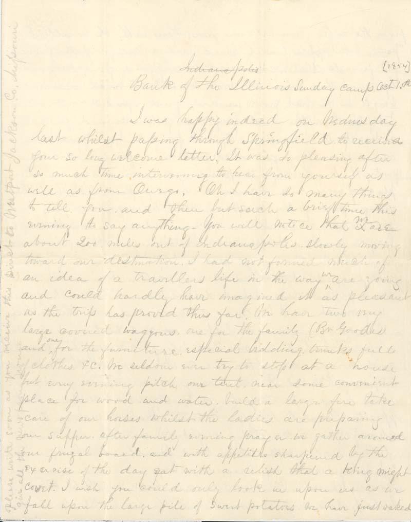 James Griffing to J. Augusta Goodrich - p. 1