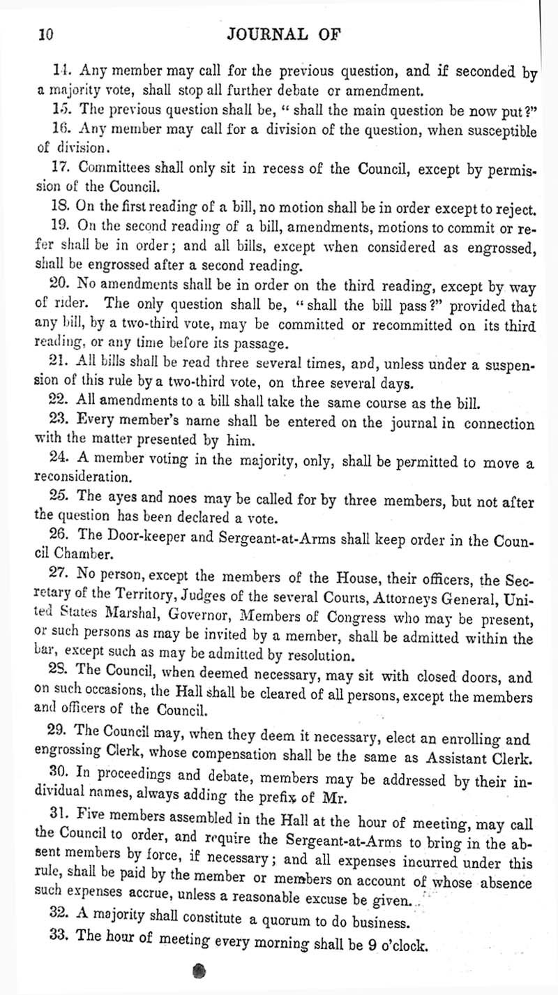 Journal of the Council of the Territory of Kansas, 1855 - p. 10