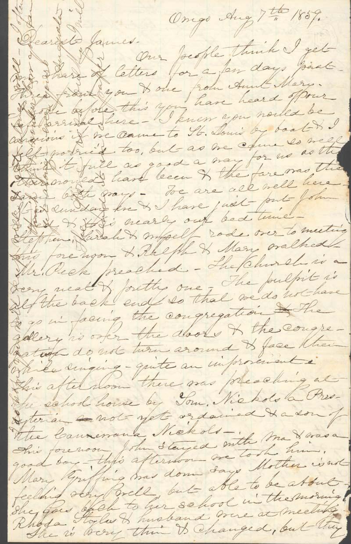 J. Augusta Goodrich Griffing to James Griffing - p. 1