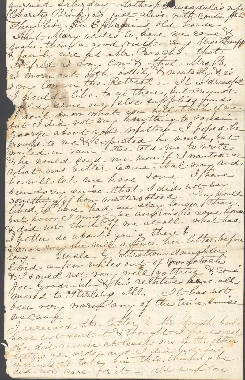 J. Augusta Goodrich Griffing to James Griffing - p. 4