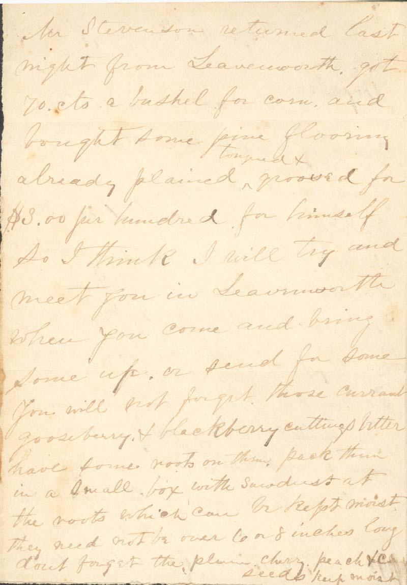 James Griffing to J. Augusta Goodrich Griffing - p. 2