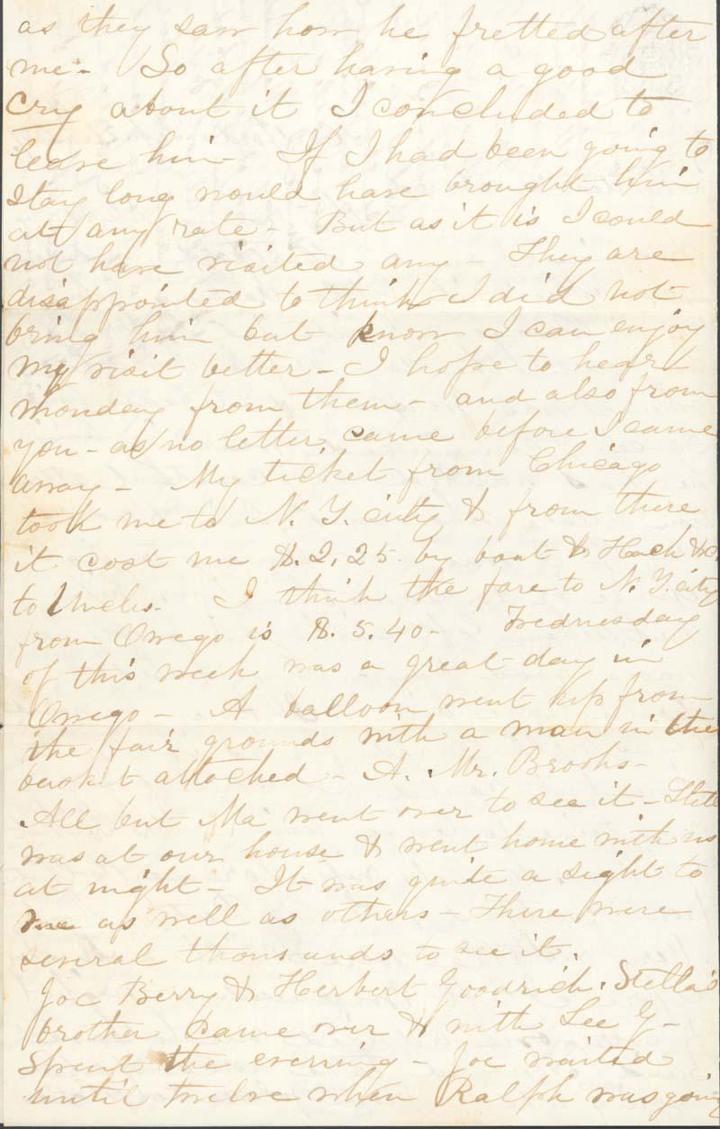J. Augusta Goodrich Griffing to James Griffing - p. 2