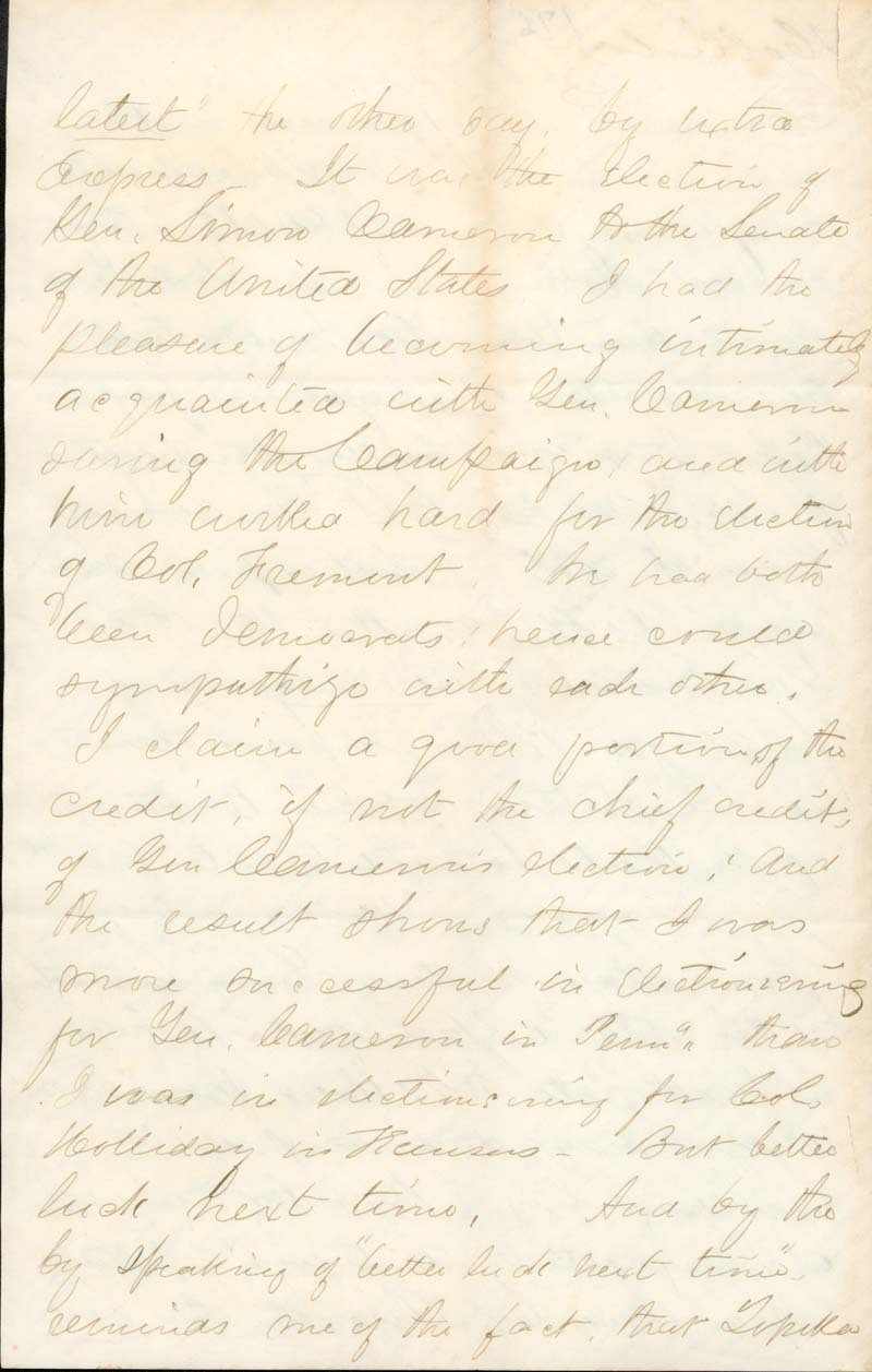 C. K. Holliday to Franklin Crane - p. 2