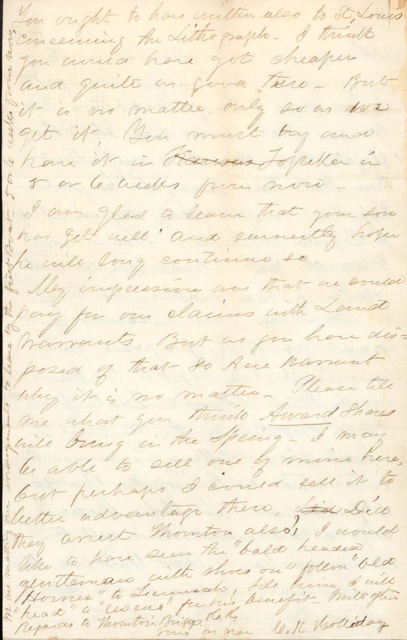 C. K. Holliday to Franklin Crane - p. 4