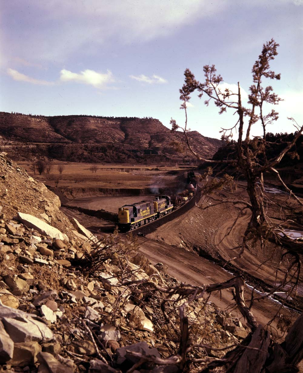 Freight Train Bound For York Canyon Mine In New Mexico