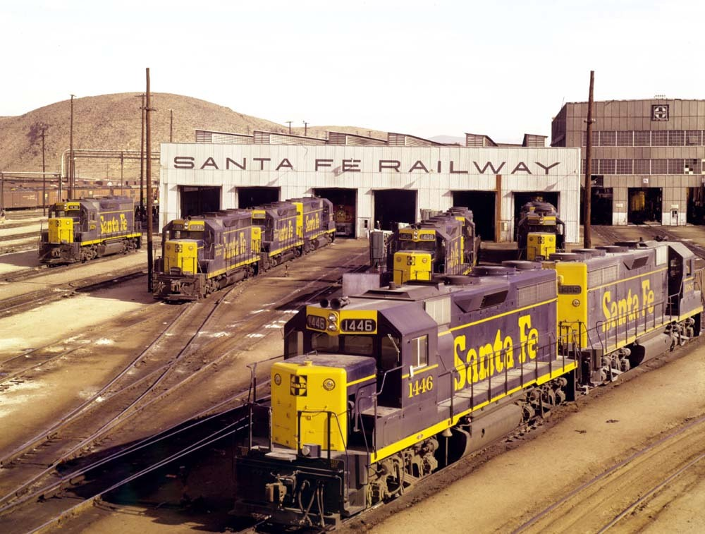 GP35 diesel shops, Barstow, California