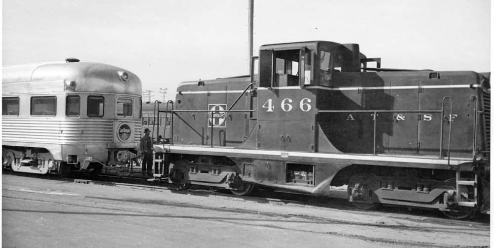 Atchison, Topeka, & Santa Fe Railway switch engine #466