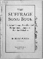 The Suffrage Song Book - Title Page