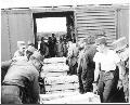 Atchison, Topeka & Santa Fe Railway Company box cars, Fort Hood, Texas