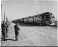 Atchison, Topeka & Santa Fe Railway Company's military train, Fort Hood, Texas