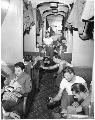 Atchison, Topeka & Santa Fe Railway Company's passenger car, Camp Haan, California