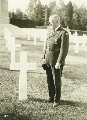 Harry Walter Colmery at a World War I cemetery in Europe.