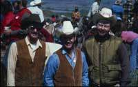 Cowboys at a cattle round up