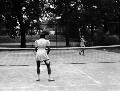 Tennis players at Big Eleven Lake, Kansas City, Kansas