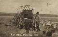 Chuck wagon and cook in Seward County, Kansas