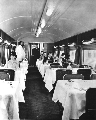 Dining car on the Santa Fe Chief