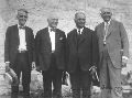 Arthur Capper, Ben Paulin, Charles Curtis, and Carl R. Gray at Pawnee Capitol, Pawnee, Kansas