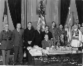 Greek flag presentation to Governor Harry H. Woodring
