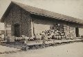 Brewery album - In beer keg days at the Chicago, Rock Island, and Pacific Railroad freight depot, Topeka, Kan.